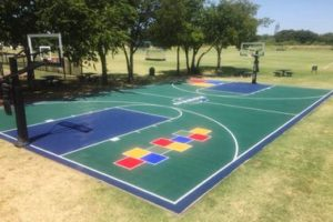 Tennis & Basketball Courts Painting